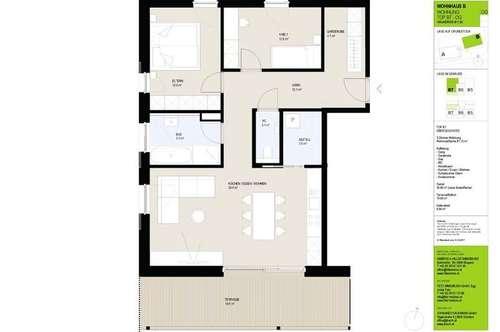 Neubau: 3-Zimmerwohnung im Dachgeschoss mit zusätzlicher Galerie