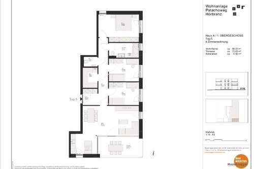 Neubau: Hörbranz 4 Zimmerwohnung