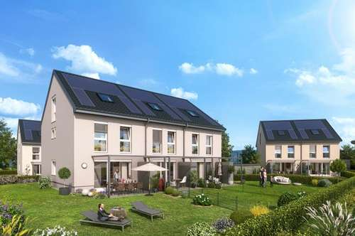Neues Reihenhaus - Wohnen im Grünen - nur 2 Gehminuten zur Lokalbahn