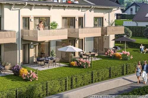 NEUBAUPROJEKT am ADNETER RIEDL: 2-Zimmer + sonniger Garten