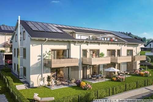 Residieren am Adneter Riedl: 130 m² Garten mit Panoramablick!