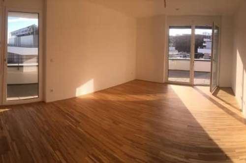 Neubau-Erstbezug Greencity/Top 3-Zimmer-Wohnung mit großer Terrasse