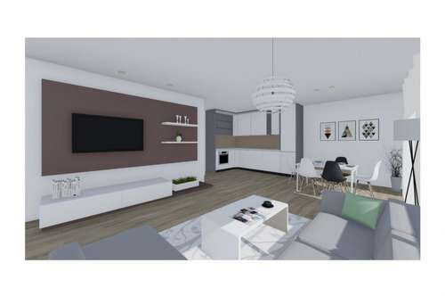 Zwei-Zimmer-Erdgeschosswohnung mit Südterrasse und Gartenanteil