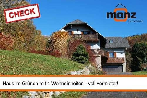 Kleines Zinsobjekt - Haus mit 4 Wohneinheiten + Garten im Grünen
