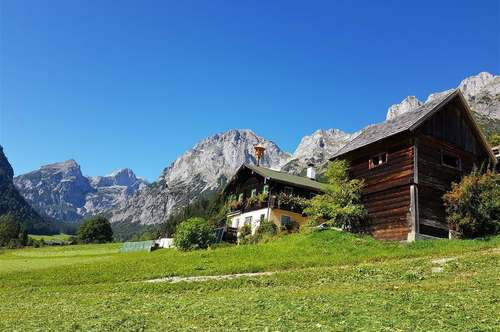Absolute RARITÄT! GÄSTEZIMMER mit BIOBAUERNHOF in begehrter Lage, BLICK auf Dachstein, Bischofsmütze, Tennen Gebirge!! 140.000 qm Grund