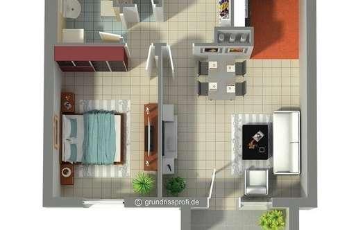 Perfekt aufgeteilte Kleinwohnung mit Balkon und TG-Platz