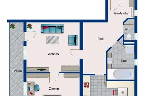 2-Zimmer-Dachgeschosswohnung in Obsteig