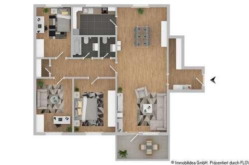Gelegenheit: 4-Zimmer-Wohnung mit Panoramablick in Hall