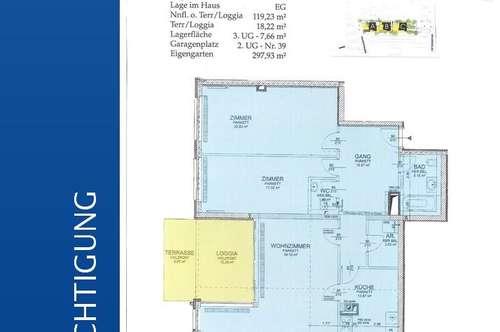 Wundervolle 3-Zimmerwohnung in ALT HIETZING mit Terrasse / Loggia und Eigengarten