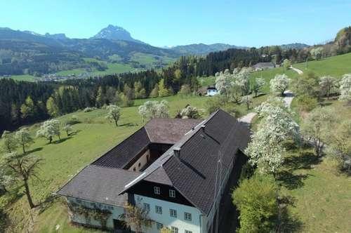 Rarität! Vierkanthof in Aussichtslage mit 14ha arrondiertem Land.