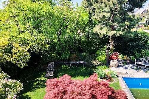++Gepflegtes Haus, romantischer Garten: 6 Zimmer, 2 Bäder, Vollkeller, 3 Terrassen, Pool, Klima uvm.++
