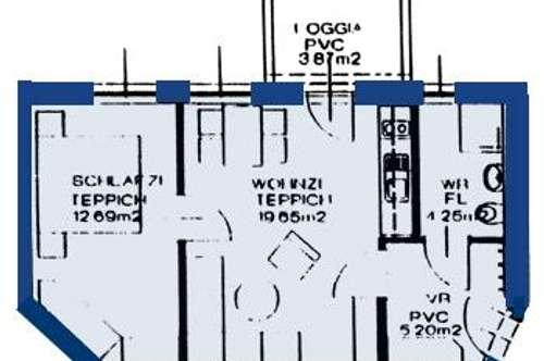 Neuhofen/Ybbs. Geförderte 2 Zimmer Wohnung | Loggia | Miete.