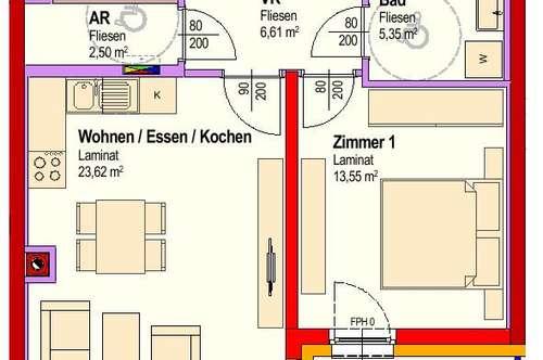 Michelhausen. Geförderte 2 Zimmer Wohnung | Balkon | Miete mit Kaufrecht.