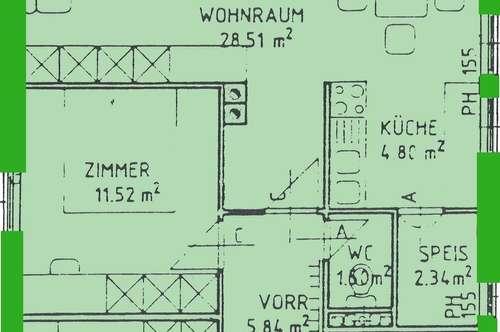 Alberndorf. geförderte 3 Zimmer Miewtwohnung   Balkon   Sonderwohnbau.