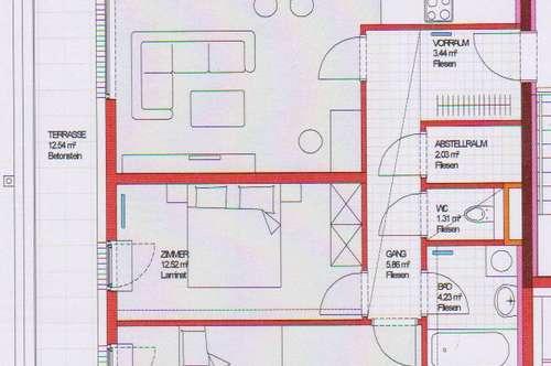 Prinzersdorf. geförderte 3 Zimmer Wohnung   Terrasse   Miete mit Kaufrecht.