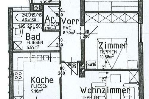 Michelhausen. 3 Zimmer   Loggia   Mietwohnung.