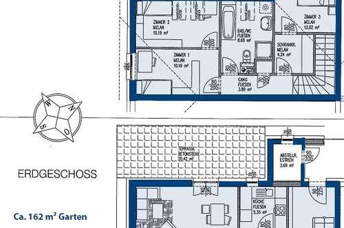 Großkrut. Geförderte 4 Zimmer Wohnung | 162 m² Garten | Miete mit Kaufrecht.