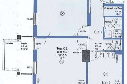 Kilb. 2-Zimmer Mietwohnung   Loggia.