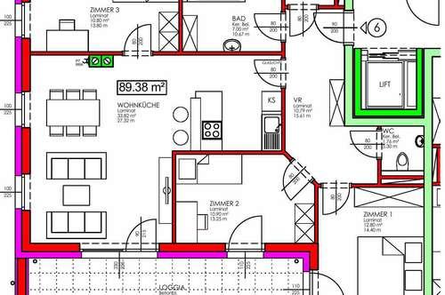 Rabenstein. Geförderte 4 Zimmer Wohnung | Loggia | Miete mit Kaufrecht.