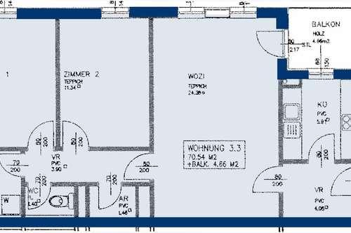 Retz. Geförderte 3 Zimmer Wohnung | Balkon | Miete mit Kaufrecht.