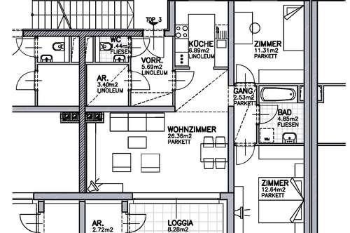 Wullersdorf. Geförderte 3 Zimmer Wohnung | Miete mit Kaufoption.