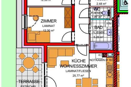 Weistrach. Geförderte 3 Zimmer Wohnung   Garten   Miete mit Kaufrecht.