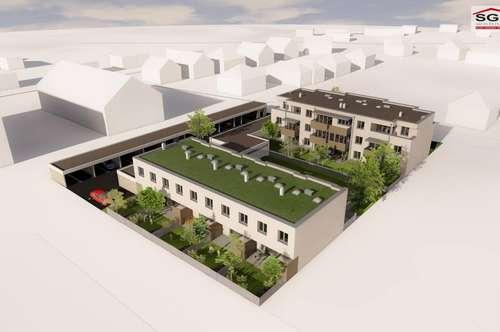 Provisionsfreier Erstbezug: Gefördertes 4-Zimmer Reihenhaus mit 2 Garagenparkplätzen und mit einer Miete-Kaufoption