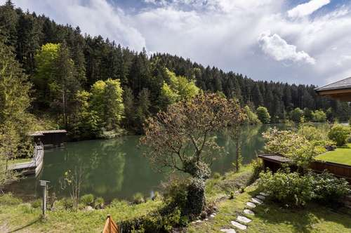 Charmantes Haus am See mit Bergblick