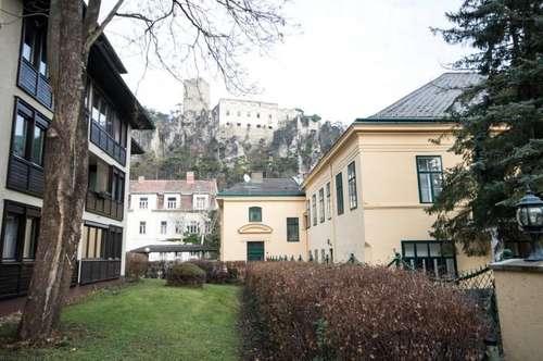 BADEN: beim Hotel Sacher: 2-Zimmer Wohnung mit großer Loggia, Autoabstellplatz und neuer Küche