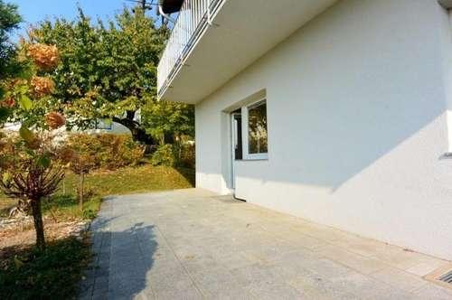 Miet-Wohnung mit eigenem Garten in Baden: am Mitterberg / Kurpark (direkt am Waldesrand)