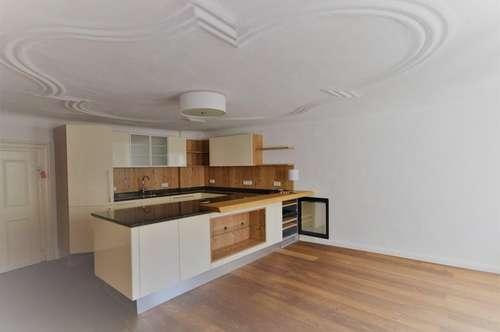 SALZBURG ALTSTADT | Großzügige, stylische 3,5 Zimmer-Altbaumaisonette mit Luxusbad +Wohnküche