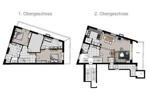 Neu sanierte Luxuswohnung im Zentrum von Kitzbühel Top 2