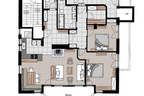 Neu sanierte Luxuswohnung im Zentrum von Kitzbühel Top 3