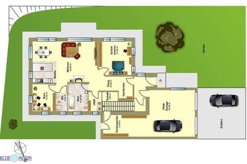 Rohrbach, Haushälfte, 3 Zimmer Erstbezug, 121m² Wohnfläche, Terrasse, Garage, Grünfläche, Ruhelage