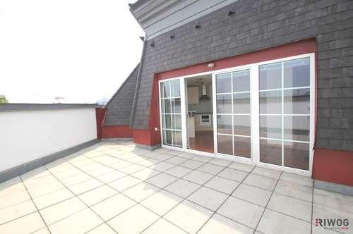 ++ Dachgeschoss-Maisonette ++ uneinsehbare Terrasse mit Naschmarkt Blick ++