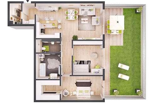 Provisionsfreie 3-Zimmer Neubau-Gartenwohnung (W01)