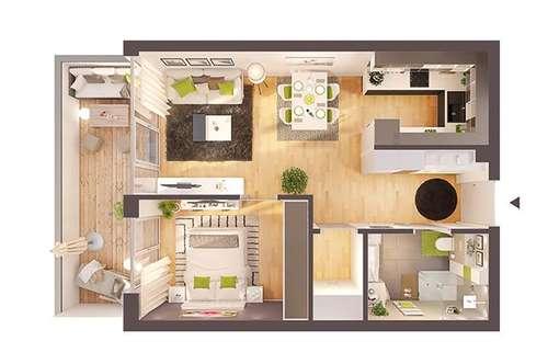 Provisionsfreie hochwertige 2-Zimmer Neubau-Wohnung mit Balkon (Top W07)