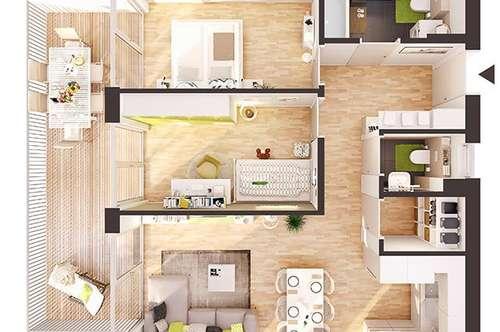 Provisionsfreie 3-Zimmer Neubau-Wohnung mit Balkon (AW07)