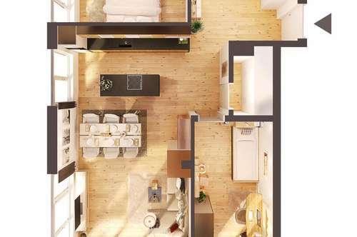 Provisionsfreie hochwertige 3-Zimmer Penthousewohnung mit Terrasse, Neubau! (Top W15)