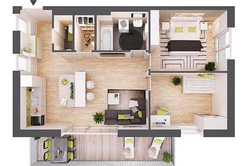 Provisionsfreie 3-Zimmer Neubau-Wohnung mit Terrasse (BW06)