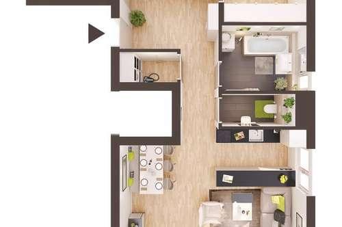 Baurecht: 4-Zimmer Neubau-Wohnung mit Balkon (AW07)