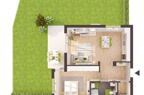 Baurecht: 2-Zimmer Neubau-Gartenwohnung (AW03)