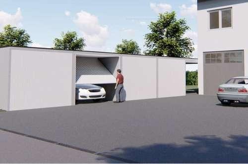 10 Garagen plus 4 Stellplätze im Freien