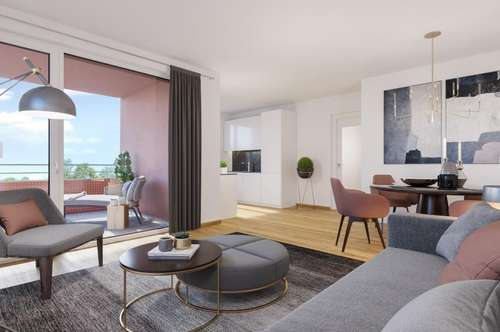 Schlüsselfertig - Gefördert- Zentral - Neubauwohnung mit Loggia *provisionsfrei*