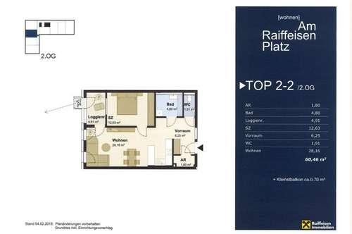 """Wohnen """"Am Raiffeisen Platz"""" TOP2-2 Typ2"""