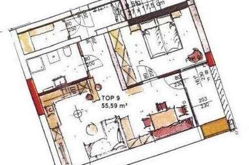 Neubau Mietwohnung mit Loggia Top 9
