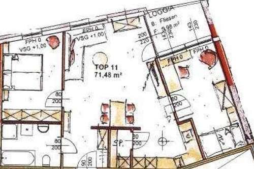 Neubau Mietwohnung mit Loggia Top 11