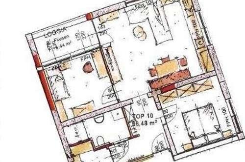 Neubau Mietwohnung mit Loggia Top 10