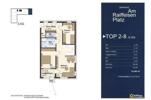 """Wohnen """"Am Raiffeisen Platz""""  TOP2-8 Typ1"""