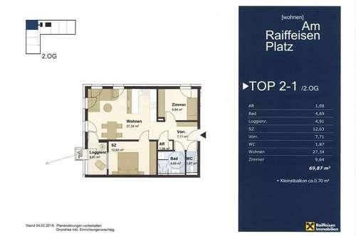 """Wohnen """"Am Raiffeisen Platz"""" TOP2-1 Typ4"""
